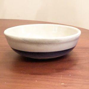MCCoy 1413 Stoneware Blue Stripe Bowl